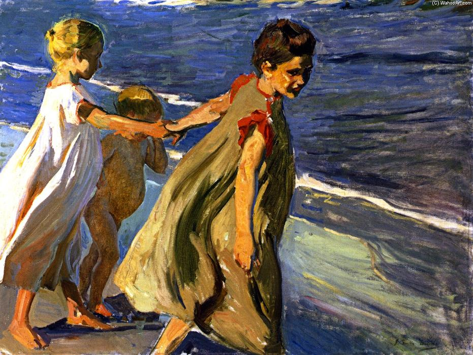 Summer (study), Oil On Canvas by Joaquin Sorolla Y Bastida (1863-1923, Spain)