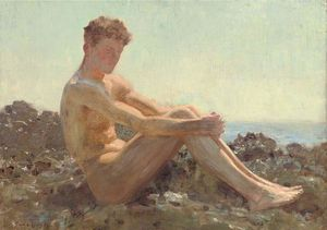Henry Scott Tuke - The Sun-bather