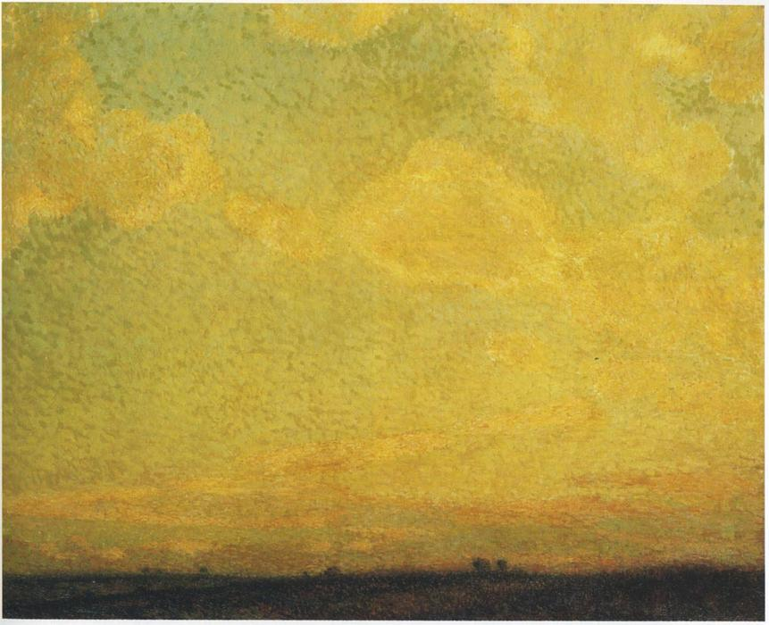Sunset, Oil On Canvas by Henri Eugène Augustin Le Sidaner (1862-1939, Mauritius)