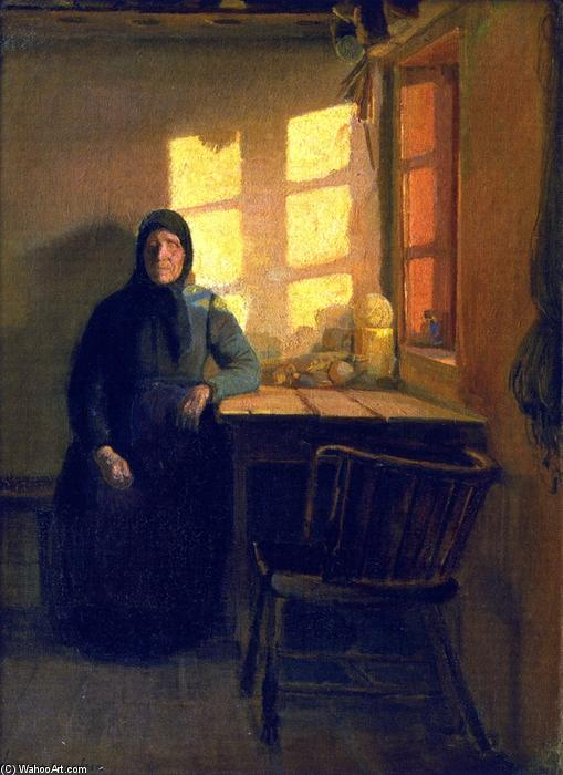 Order Museum Quality Reproductions : Sunshine in the Blind Woman`s Room, 1885 by Anna Kirstine Ancher (1859-1935, Denmark) | ArtsDot.com
