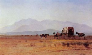 Albert Bierstadt - Surveyor-s Wagon in the Rockies