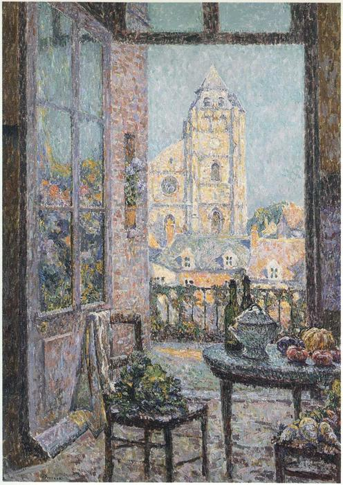 Table by the Window, Oil On Canvas by Henri Eugène Augustin Le Sidaner (1862-1939, Mauritius)
