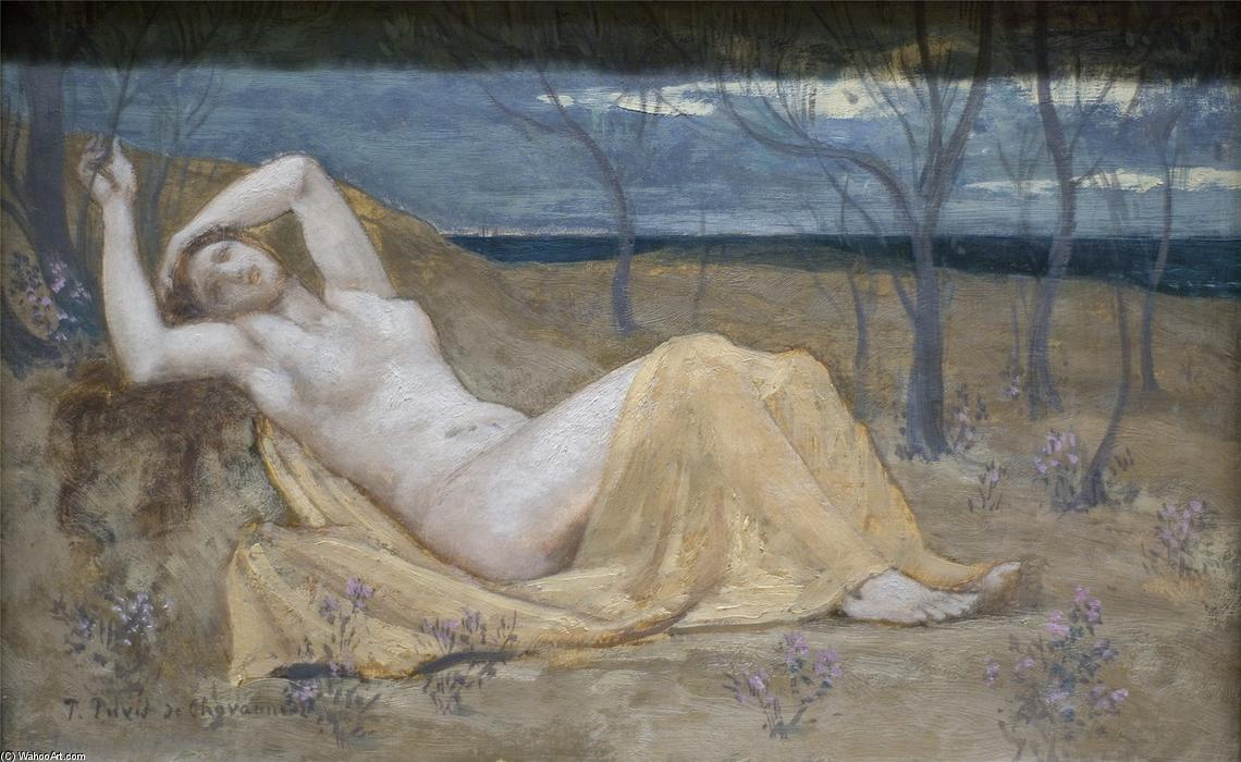 Tamaris, 1880 by Pierre Puvis De Chavannes (1824-1898, France)