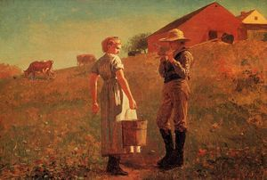 Winslow Homer - A Temperance Meeting (also known as Noon Time)