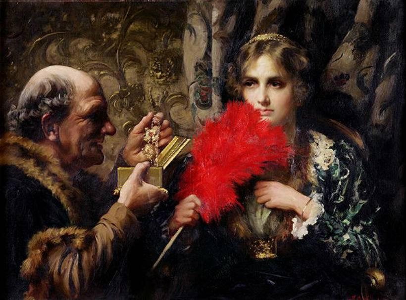 Temptation, 1914 by Thomas Benjamin Kennington (1856-1916, United Kingdom) | Museum Quality Reproductions | ArtsDot.com