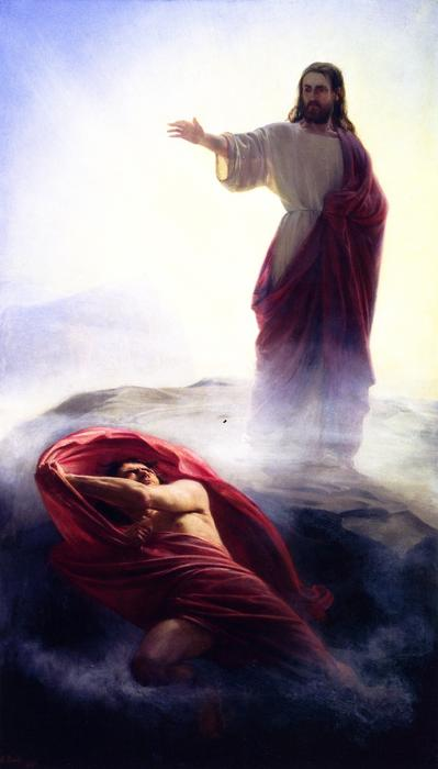 The Temptation of Jesus, Painting by Carl Heinrich Bloch (1834-1890, Denmark)