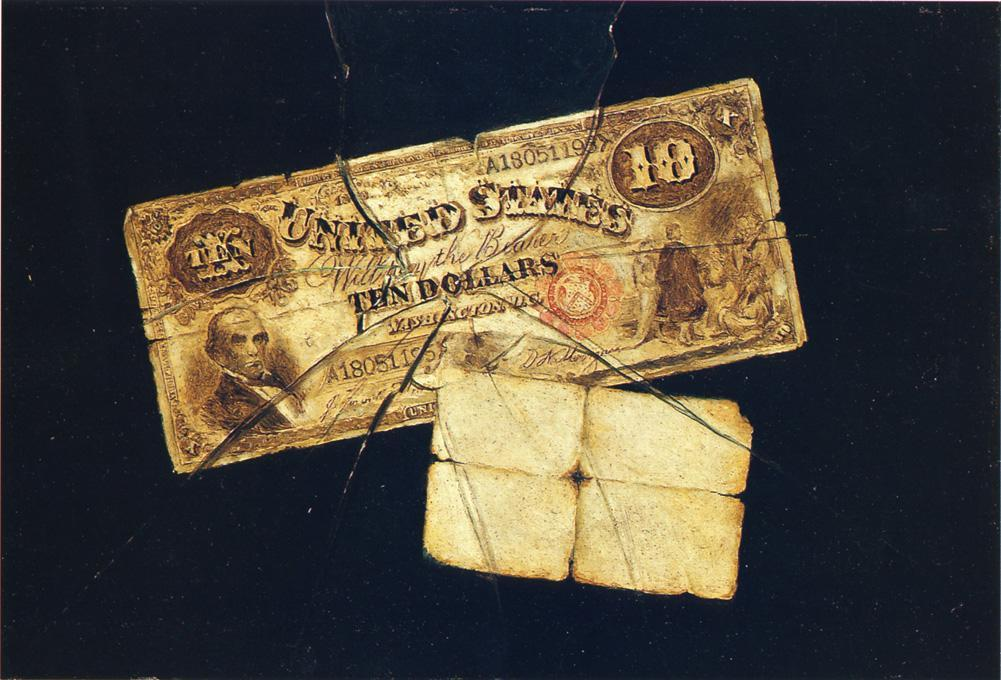 A Ten Dollar Bill by Nicholas Alden Brooks (1840-1904, United States) | Art Reproduction | ArtsDot.com