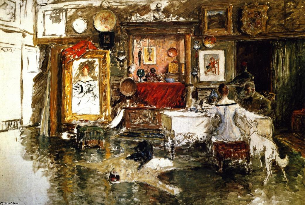 The Tenth Street Studio, Oil On Canvas by William Merritt Chase (1849-1916, United States)