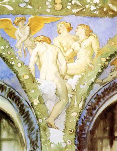 John Singer Sargent - Three Nudes with Cupid
