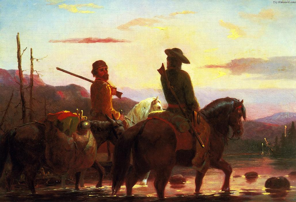 The Trappers, 1856 by William Tylee Ranney (1813-1857, United States) | Museum Quality Reproductions | ArtsDot.com