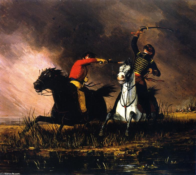 The Trooper, Oil On Canvas by Charles Deas (1818-1867, United States)