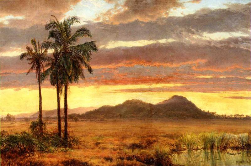 Tropical Landscape, 1858 by Louis Remy Mignot (1831-1870, United States) | Museum Quality Reproductions | ArtsDot.com