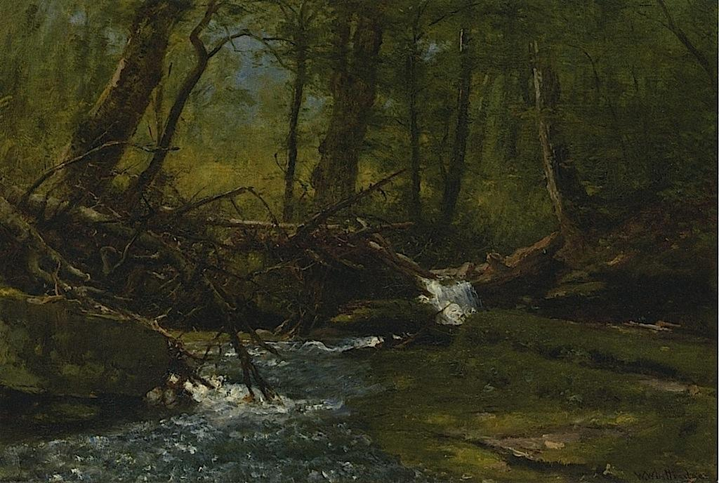 Trout Brook by Thomas Worthington Whittredge (1820-1910, United States) | Paintings Reproductions Thomas Worthington Whittredge | ArtsDot.com