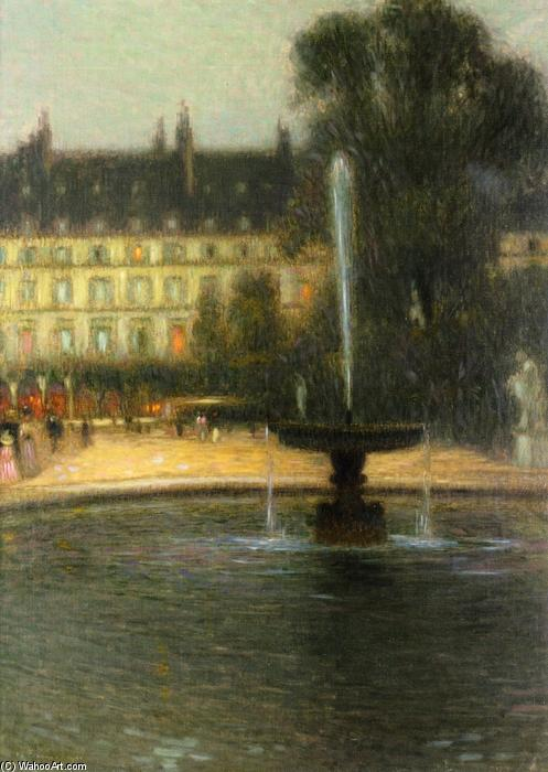 The Tuilleries, Oil On Canvas by Henri Eugène Augustin Le Sidaner (1862-1939, Mauritius)