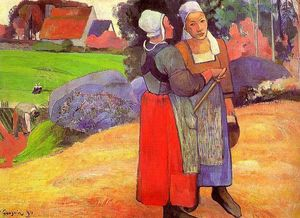 Paul Gauguin - Two Breton Peasants on the Road