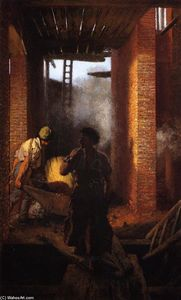 Adolph Menzel - Two Builders at Work