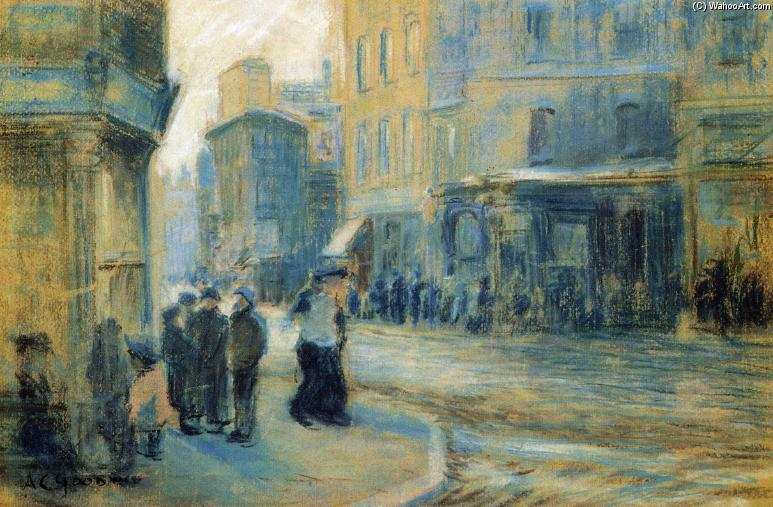 Up Tremont Street, 1904 by Arthur Clifton Goodwin (1864-1929, United States) | Museum Quality Reproductions | ArtsDot.com