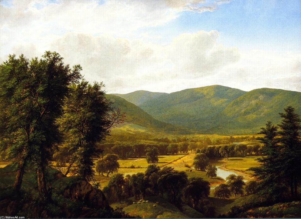 The Valley, Oil On Canvas by William Mason Brown (1828-1898, United States)