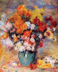 Pierre-Auguste Renoir - Vase of Chrysanthemums