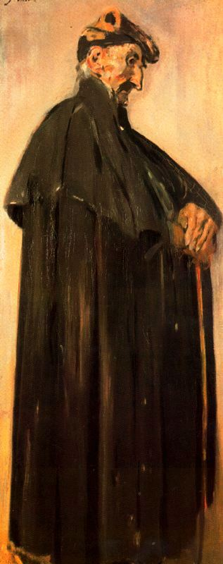 Vell androrrà by Joaquin Mir Trinxet (1873-1940, Spain)