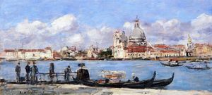 Eugène Louis Boudin - Venice, The Salute and the Douane, the Guidecca from the Rear, View from the Grand Canal