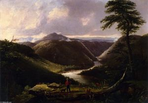 Thomas Worthington Whittredge - View from the Hawk-s Nest, Western Virginia, Morning