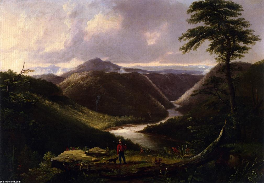 View from the Hawk`s Nest, Western Virginia, Morning, 1846 by Thomas Worthington Whittredge (1820-1910, United States) | Reproductions Thomas Worthington Whittredge | ArtsDot.com