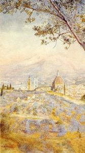 Henry Roderick Newman - View of Florence from the..