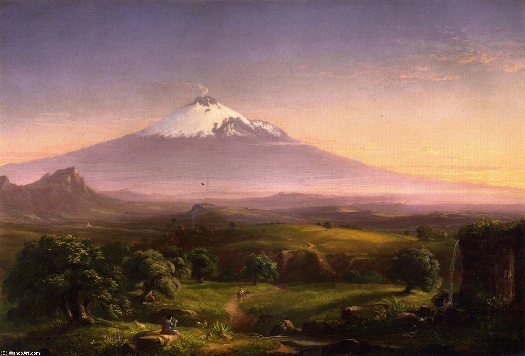 View of Mt. Etna, Oil On Canvas by Thomas Cole (1801-1848, England)