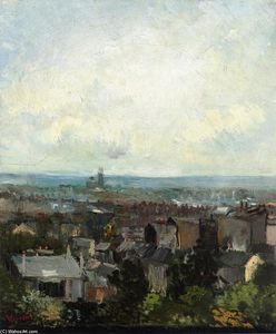 Vincent Van Gogh - View of Paris from near Montmartre