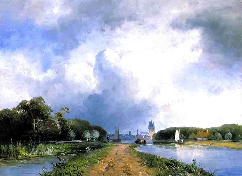 View of the River Vliet near Delft, 1866 by Johan Barthold Jongkind (1819-1891, Netherlands)
