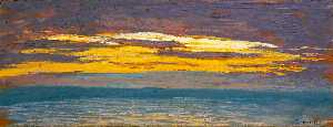 Claude Monet - View of the Sea at Sunset
