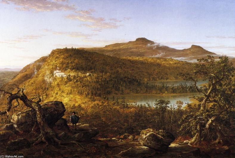 A View of the Two Lakes and Mountain House, Catskill Mountains, Morning, Oil On Canvas by Thomas Cole (1801-1848, United Kingdom)