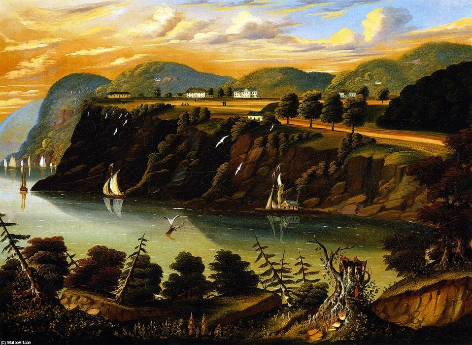 View of West Point, Oil On Canvas by Thomas Chambers (1808-1869)