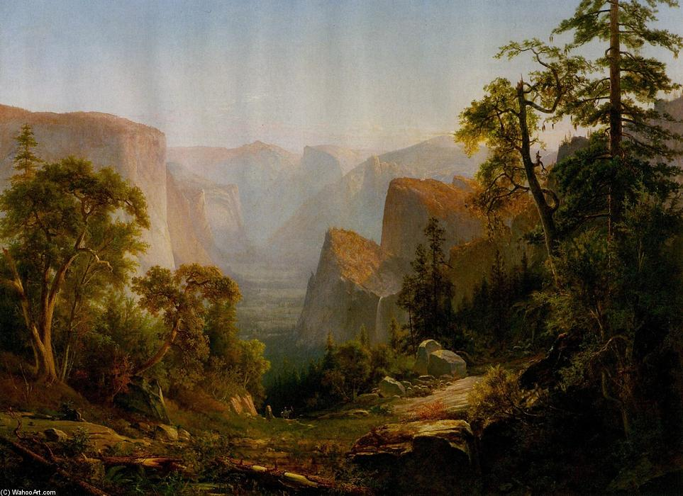 View of the Yosemite Valley, in California, Oil On Canvas by Thomas Hill (1829-1908, United Kingdom)