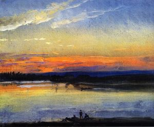 Johan Christian Clausen Dahl - View over the Elbe and the 'De..