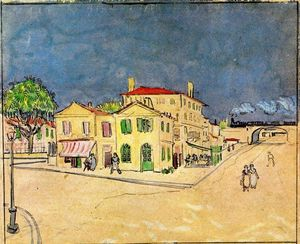 Vincent Van Gogh - -Vincent-s House in Arles (also known as The Yellow House)-