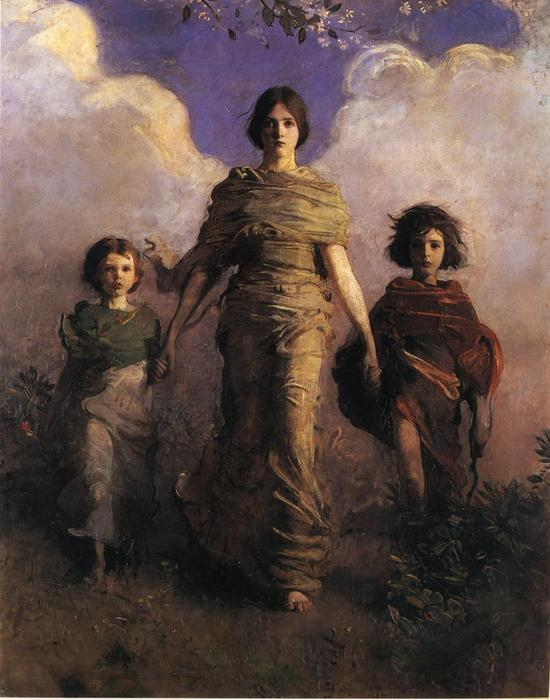 The Virgin, Oil On Canvas by Abbott Handerson Thayer (1849-1921, United States)