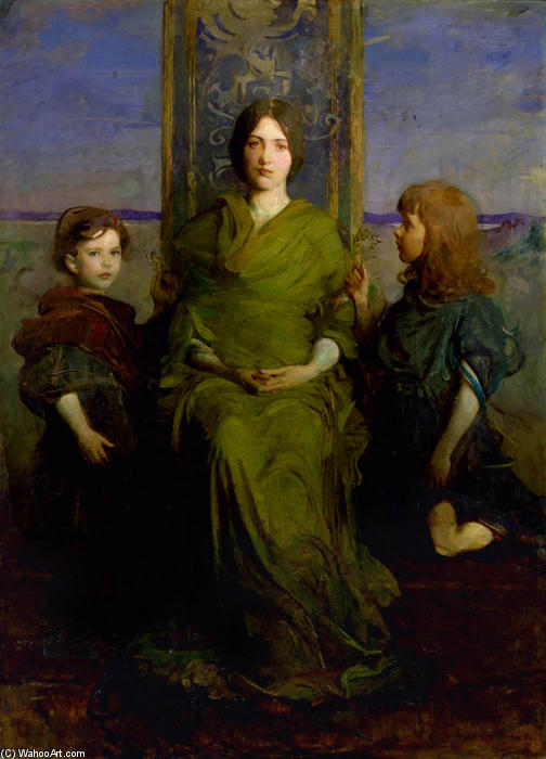 Virgin Enthroned, 1891 by Abbott Handerson Thayer (1849-1921, United States)