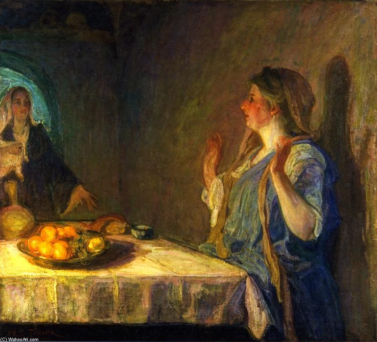 The Visitation (also known as Mary Visiting Elizabeth), 1909 by Henry Ossawa Tanner (1859-1937, United States) | Museum Art Reproductions | ArtsDot.com
