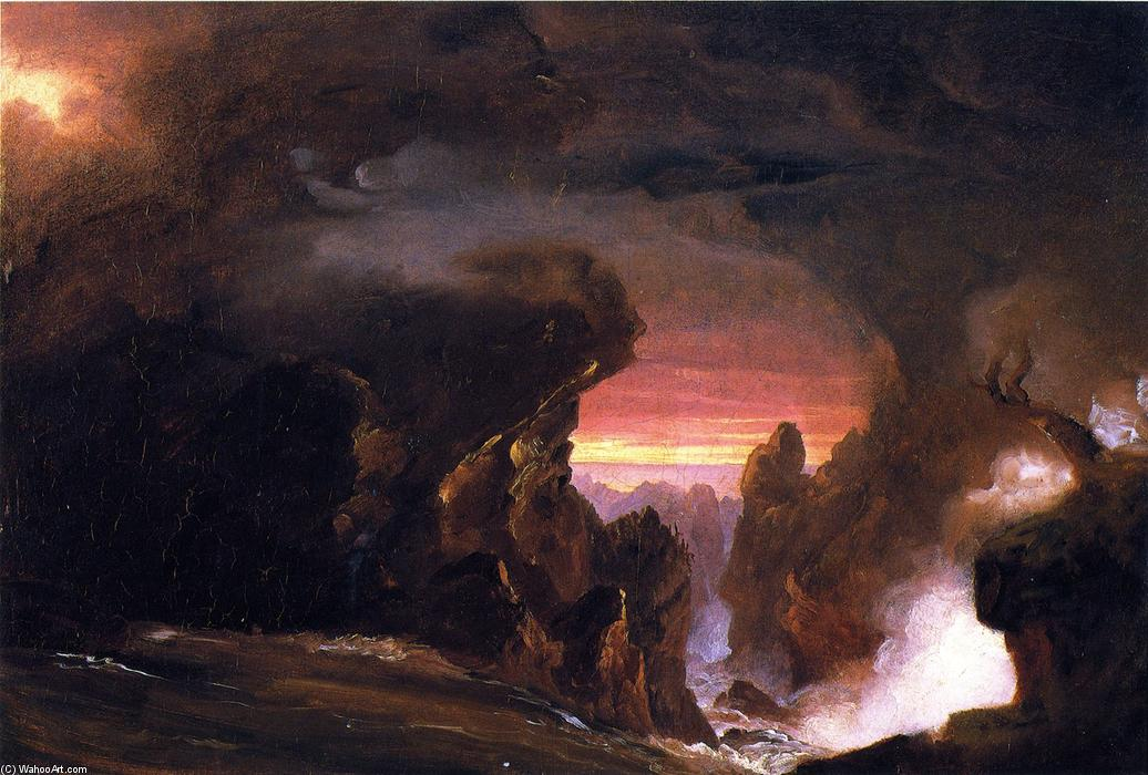 The Voyage of Life: Manhood compositional study, Painting by Thomas Cole (1801-1848, United Kingdom)