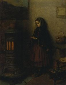 Jonathan Eastman Johnson - Warming Her Hands
