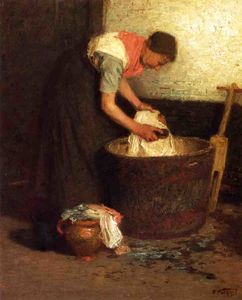 Edward Henry Potthast - The Washerwoman