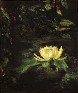 John La Farge - Water Lily (also known as Lotus Leaves)