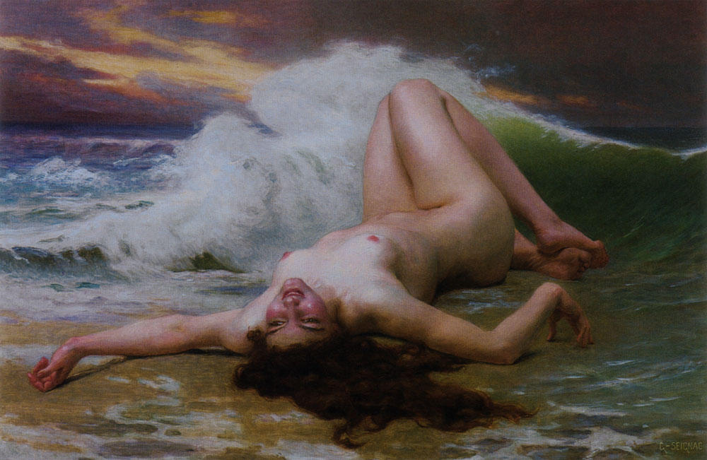 The Wave by Guillaume Seignac (1870-1924, France) | Museum Quality Reproductions | ArtsDot.com