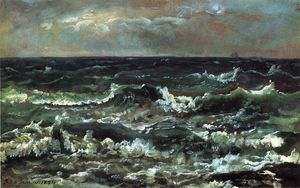 Johan Christian Clausen Dahl - Waves and Breakers in the Bay ..