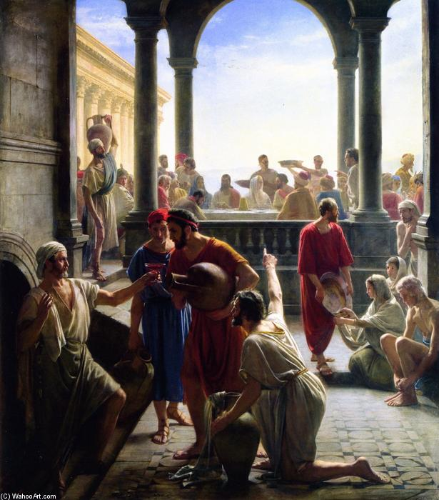 The Wedding at Cana, Painting by Carl Heinrich Bloch (1834-1890, Denmark)