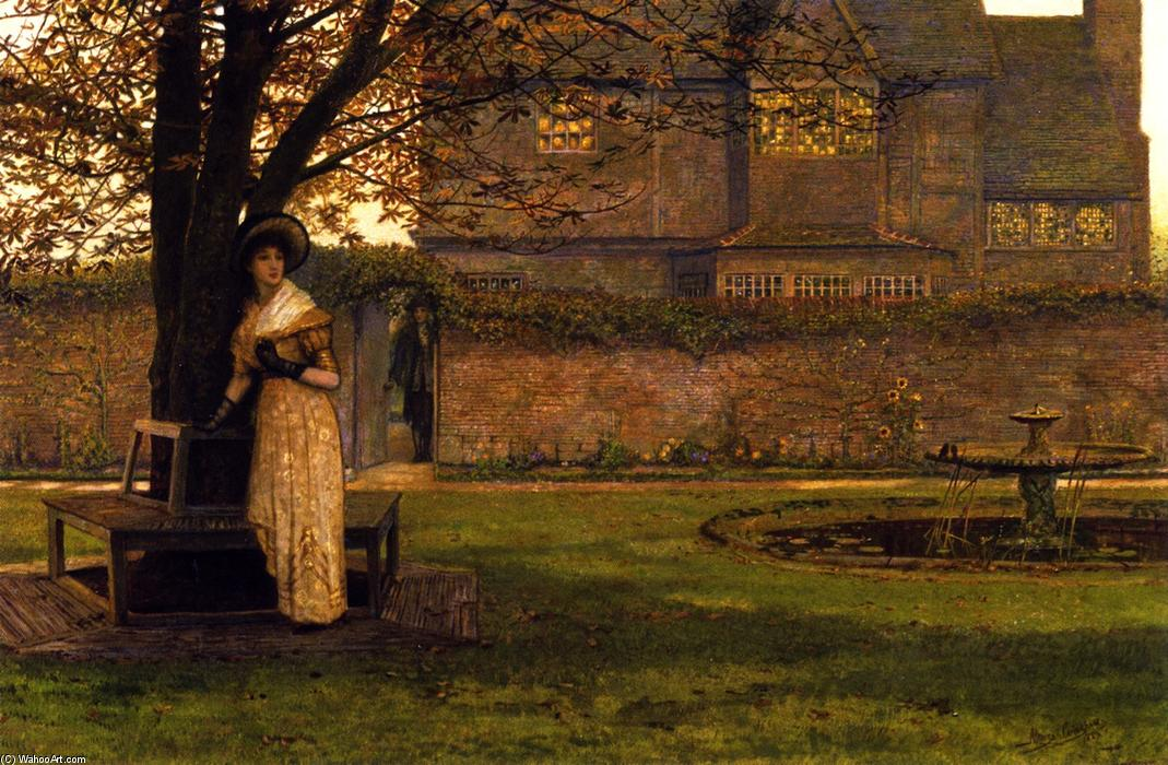 Welcome Footsteps, Oil On Canvas by John Atkinson Grimshaw (1836-1893, United Kingdom)