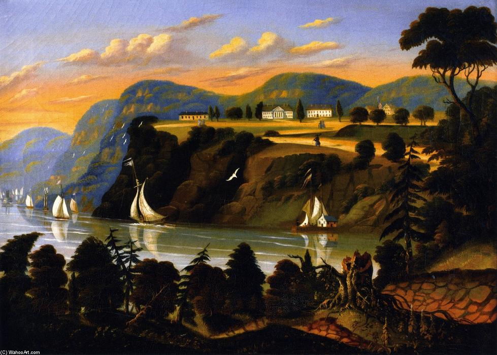 West Point, Oil On Canvas by Thomas Chambers (1808-1869)