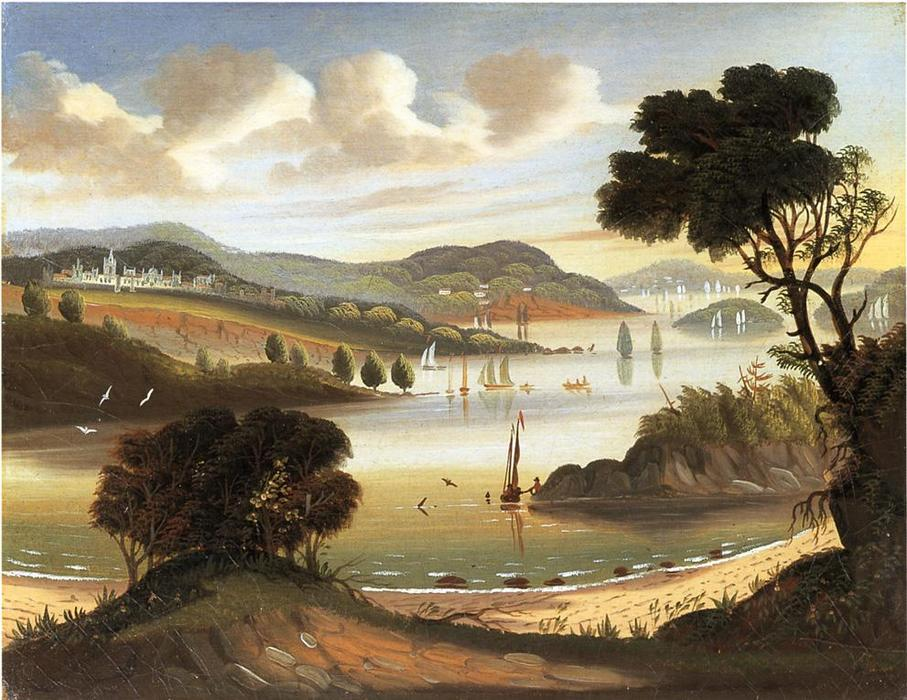 West Point on the Hudson River, Oil On Canvas by Thomas Chambers (1808-1869)